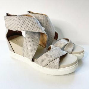 NEW DR SCHOLLS Shout Perforated Wedge Sandal 7
